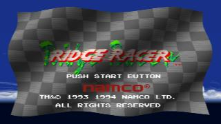 Screenshot Thumbnail / Media File 1 for Ridge Racer [U]